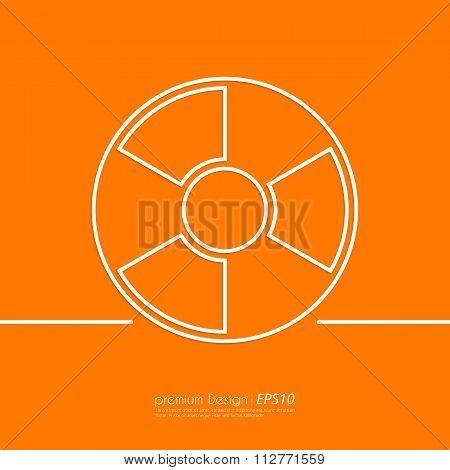 Stock Vector Linear icon radiation