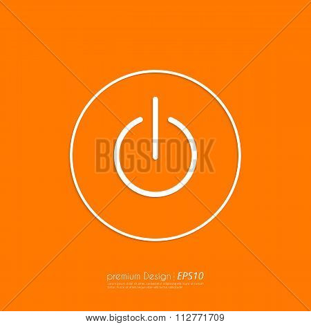 Stock Vector Linear icon power.