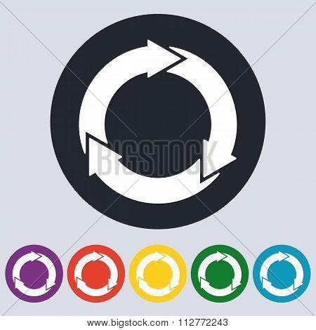 Stock Vector Linear icon three arrows