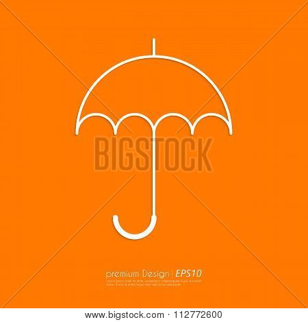 Stock Vector Linear icon umbrella