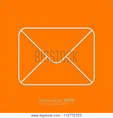 Stock Vector Linear icon mail