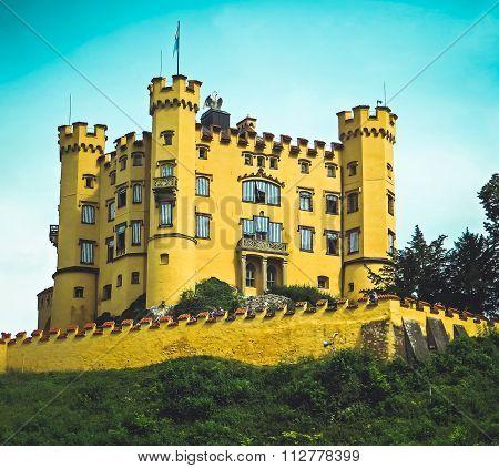 Hohenschwangau Castle - Mad King Ludwig of Bavaria in Vintage - Fussen, Germany