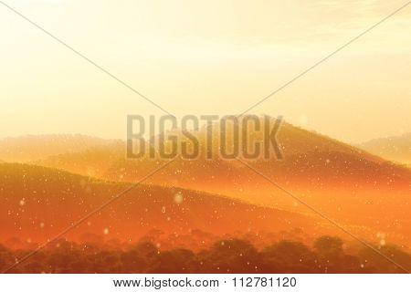 Wonderful Fairy Tale Magical Scenery In Sunset Sunrise