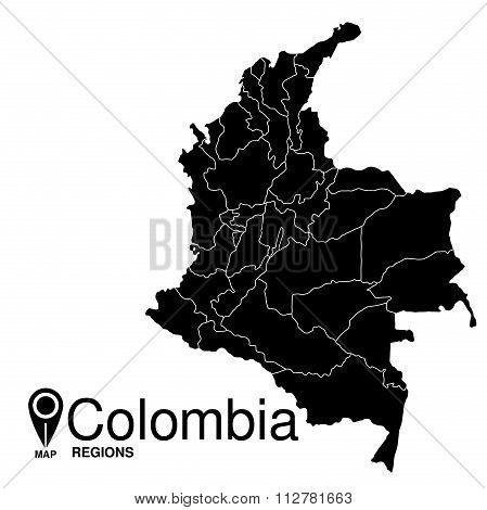 Colombia Map Regions