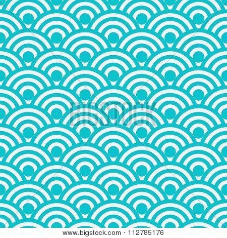 Vector illustration seamless pattern Japanese