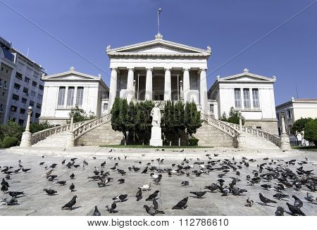 Greece National Library Building In  Athens