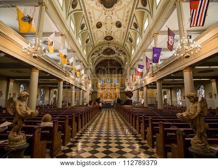 New Orleans Saint Louis Cathedral Interior Main Naive