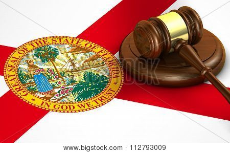 Florida State Law Legal System Concept