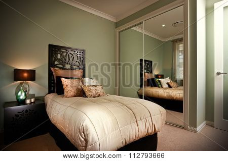 Beauitful Bedroom With Moody Lighting