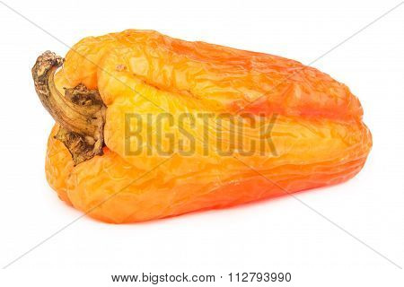 Spoiled Yellow Bell Pepper Isolated