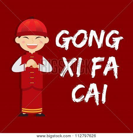 Boy Saying Gong Xi Fa Cai