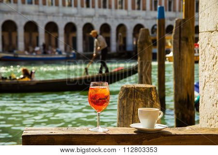 Spritz and coffee in Venice