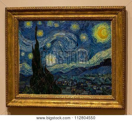 New York City MOMA - Starry Night, Vincent Van Gogh
