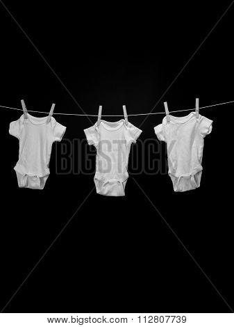 Three Baby Onsies