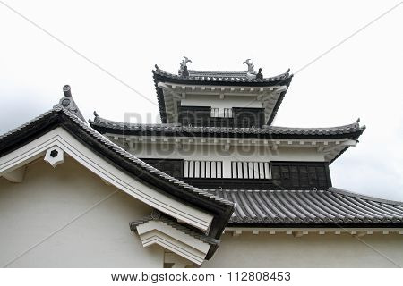 Komine castle in Shirakawa city, Fukushima, Japan