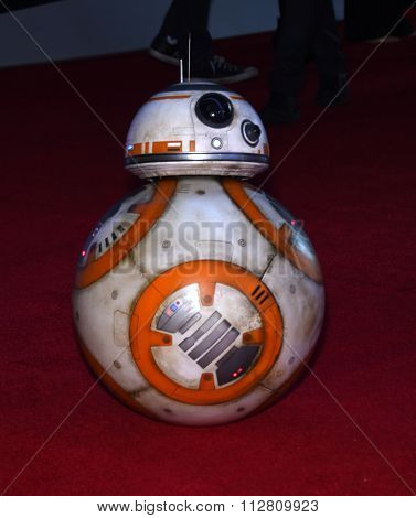 LOS ANGELES - DEC 14:  BB-8 arrives to the