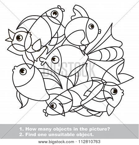 Fish Mishmash Set In Vector.
