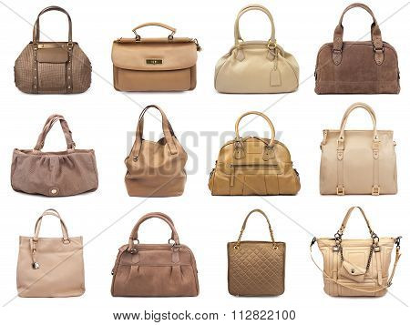 Set Of Beige Female Bags
