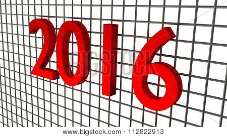 year 2016 over wire background