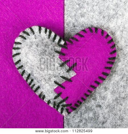 stitched broken heart