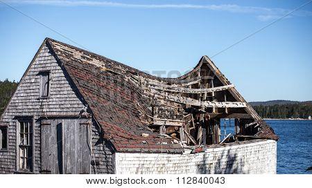 collapsing barn