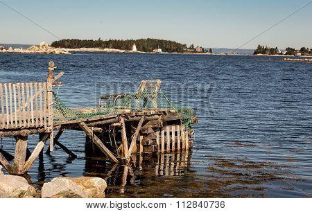rickety wooden  pier