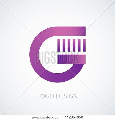 Vector illustration of logo letter g