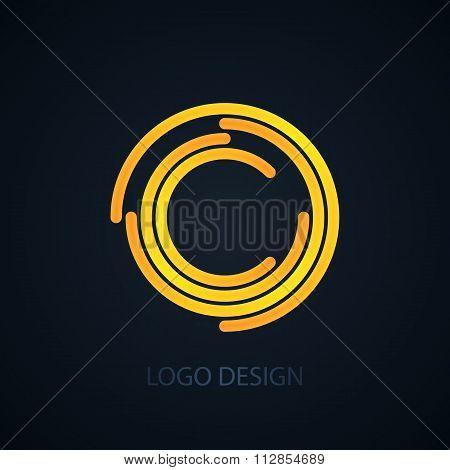 Vector illustration of logo letter c