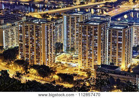 Hong Kong Sha Tin Night poster