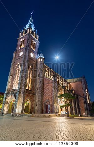 Seoul, South Korea - Circa September 2015: Cathedral Of The Virgin Mary Of Immaculate Conception,  S