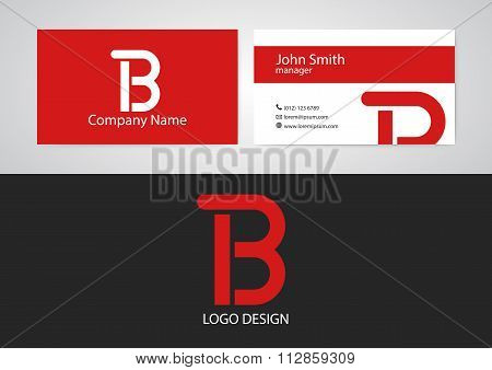 Vector illustration of logo and business card
