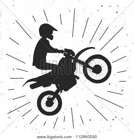 Enduro bike hand drawn illustration.