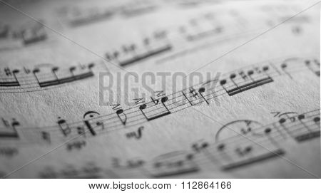 close up photo of a music sheet of classic repertoire