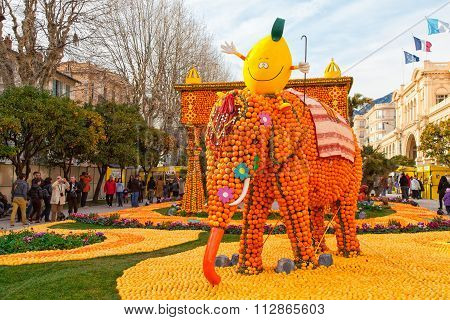 Lemon Festival, Menton, France.