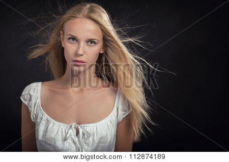 Sad Blond Girl