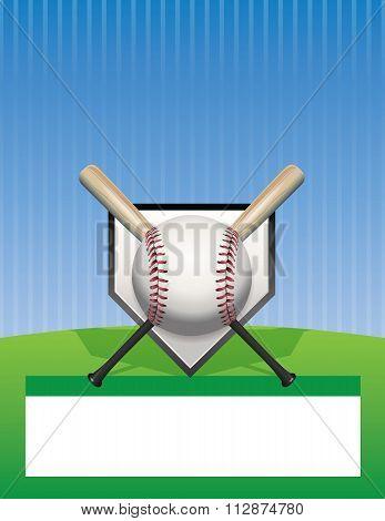 Vector Baseball Background Illustration