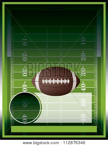 Vector American Football And Field Poster