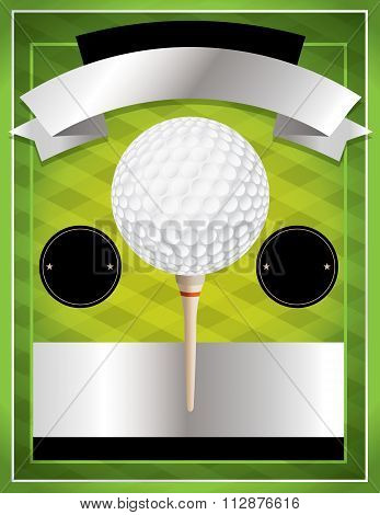 Vector Golf Tournament Flyer Illustration