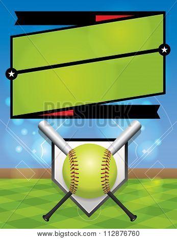 Vector Softball League Registration Illustration