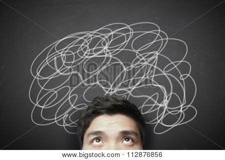 Confused Man With Lines