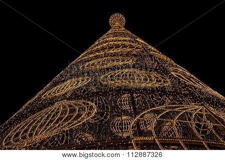 Christmas Tree Made Of Lights