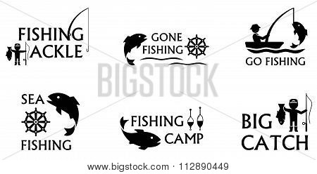 fishing symbols set