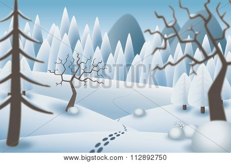 Winterlandscape Illustration