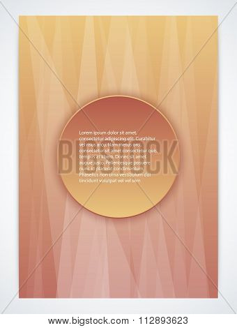 Stock Vector brochure template. magazine Cover