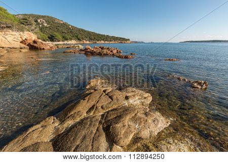 Rocks And Coastline At Palombaggia Beach In Corsica