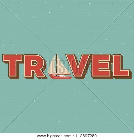 Retro travel greeting card