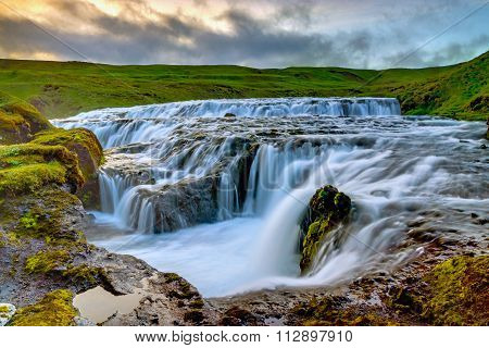 Waterfall at the Skoga, Iceland