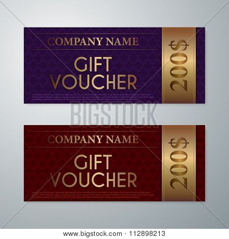 Vector illustration gift voucher template
