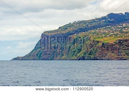 Offshore view near Calheta Madeira - view towards Jardim do Mar / Paul do Mar poster