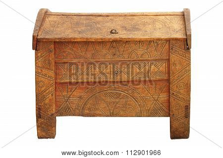 Traditional Dowry Coffer Made Of Oak Wood